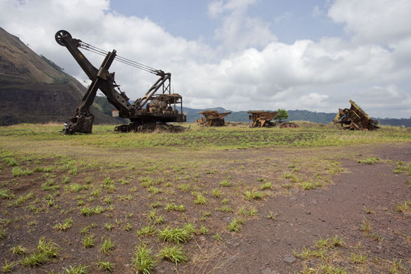 Some of the equipment slowly rusting away on the slopes of Mount Nimba | Mount Nimba Liberia | Liberia