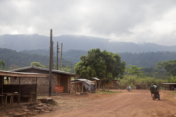 Foto van The Mount Nimba range seen from Camp FourMount Nimba Liberia - Liberia