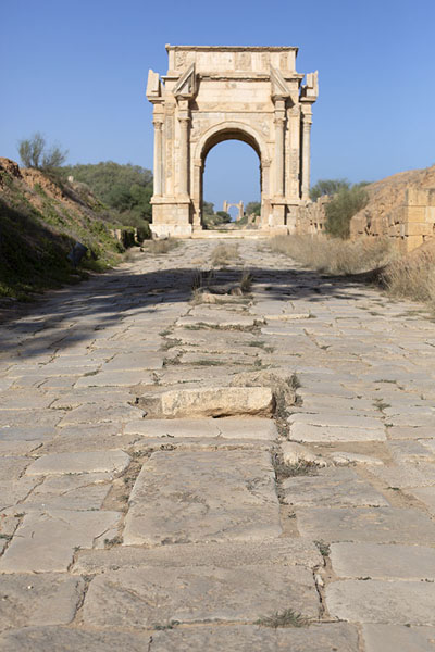 Picture of The Arch of Septimius Severus on the Decumanus MaximusLeptis Magna - Libya