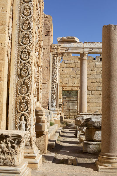 Looking into the Severan basilica, closed for visiting | Leptis Magna | Libye