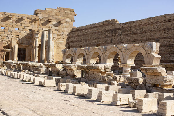 Inside view of the forum of Leptis Magna | Leptis Magna | Libye