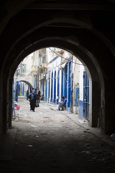 Picture of Old Tripoli (Libya): Street with arch in the old part of Tripoli