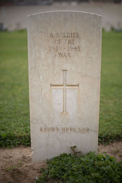 Tomb of an anonymous soldier killed in the Second World War | Second World War Cemetery | Libya