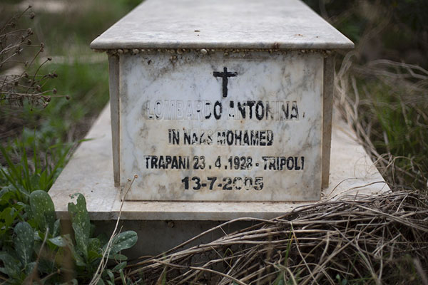 Photo de Tomb in the Italian section of the cemetery - Libye - Afrique