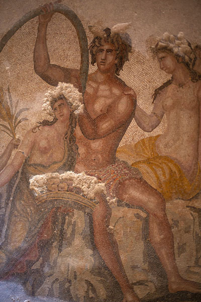 Painting-like mosaic in Villa Selene, depicting the Four Seasons | Villa Selene | Libye
