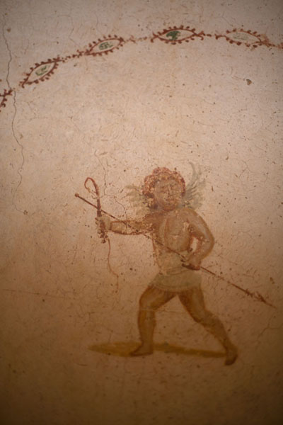 Picture of Fragment of a wall painting in Villa Selene - Libya - Africa