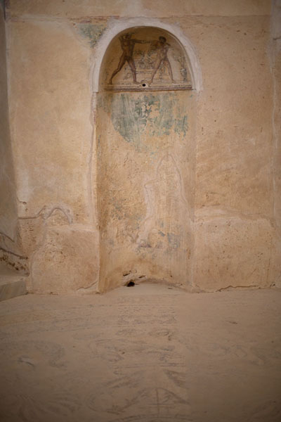 Niche with frescoes in Villa Selene | Villa Selene | Libya