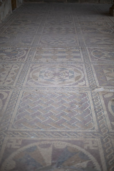 Mosaics on the outside floor of Villa Selene | Villa Selene | Libye