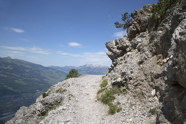 Picture of Liechtenstein (The trail at a lower elevation of Fürstensteig)