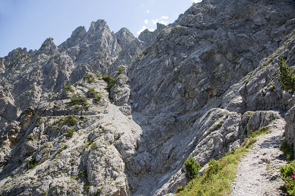 Picture of Rocky slopes of the Fürstensteig - Liechtenstein - Europe