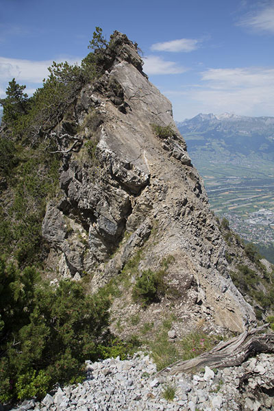 Picture of Rocky outcrop seen from FürstensteigFürstensteig - Liechtenstein