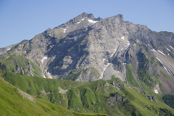 Photo de le Liechtenstein (Afternoon view of the Naafkopf peak)