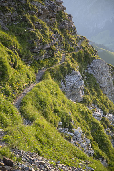 Picture of The trail on the flanks of NaafkopfNaafkopf - Liechtenstein
