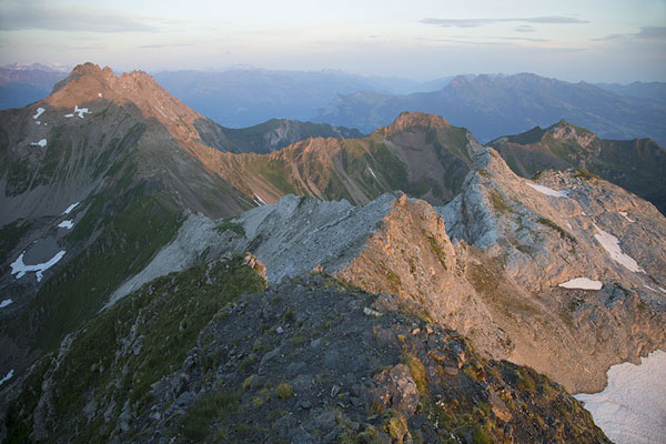 Picture of Early morning view over the highest peak of Liechtenstein: GrauspitzNaafkopf - Liechtenstein