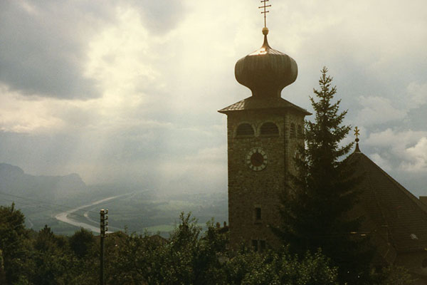 Picture of Vaduz church in Liechtenstein