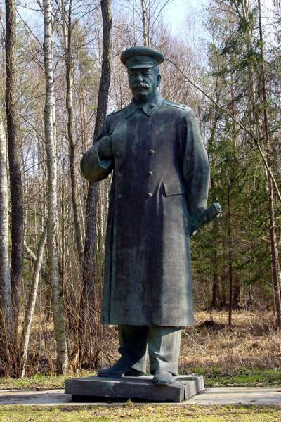 Picture of He almost looks friendly, standing in the woods of a country that suffered under his ruleLithuania - Lithuania