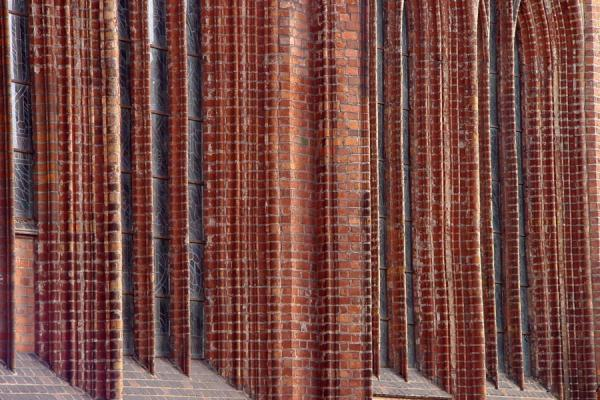 Some of those 33 different sorts of red brick | Saint Anne's Church | Lithuania