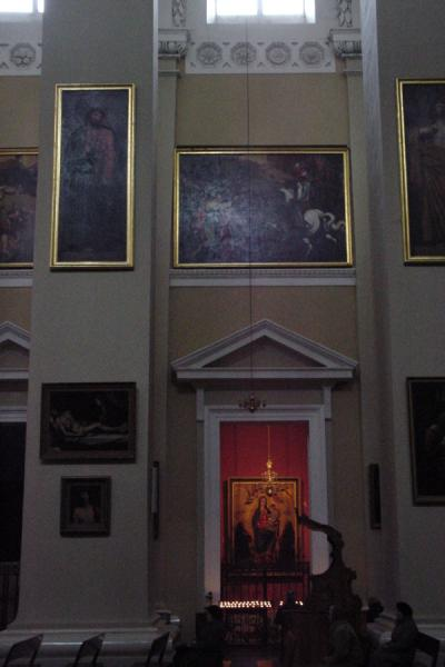 Picture of Praying inside one of the hallsVilnius - Lithuania