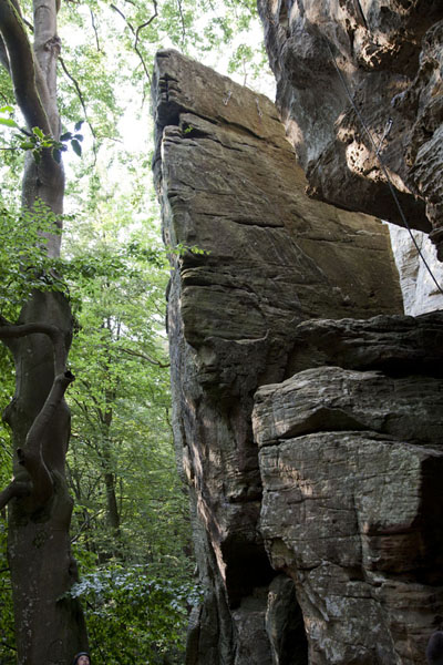 Triangular rock formation | Berdorf rock climbing | Luxembourg