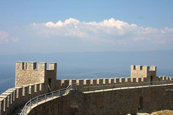 Foto di Part of the fortress wall of Samuil FortressOhrid - Macedonia