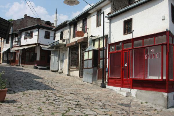 Photo de Street in the bazaar in the historical city centre of SkopjeSkopje - Macédoine