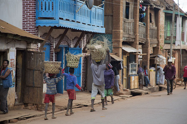 Picture of People walking the main street of AmbalavaoAmbalavao - Madagascar