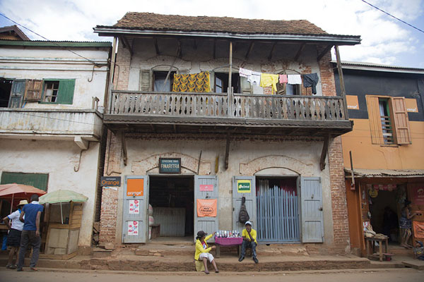 Picture of Ambalavao (Madagascar): One of the many houses with wooden balconies in Ambalavao