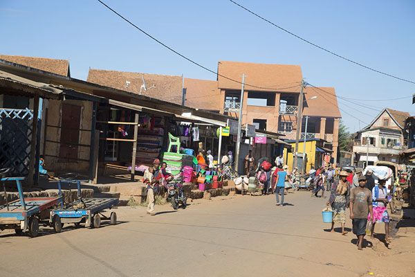 Picture of Street with market in AmbalavaoAmbalavao - Madagascar