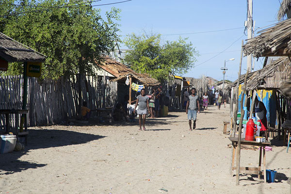 Foto di The main street of Andavadoaka is filled with stalls - Madagascar - Africa
