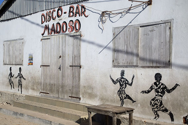 Picture of Disco-bar of Andavadoaka in the morning