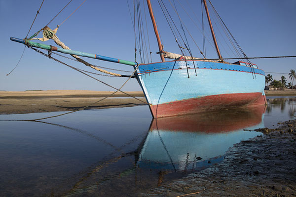 Picture of Ship moored at low tide - Madagascar