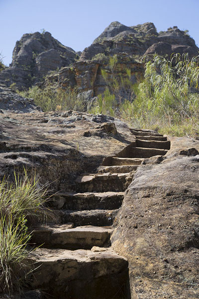 Steps hewn out in the rocks at Isalo | Isalo National Park | Madagascar