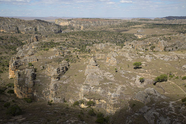 Picture of Landscape of rock formations seen from atop a small mountain - Madagascar - Africa