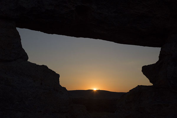 Picture of Looking at the setting sun through Isalo window - Madagascar - Africa