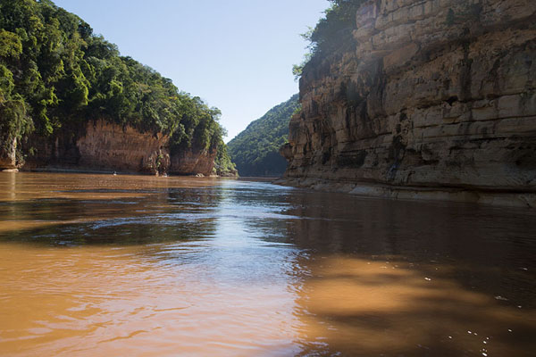 Narrow section of the Manambolo gorge | Manambolo river descent | Madagascar
