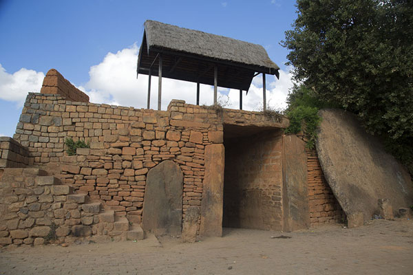 Picture of Traditional stone disk gateway of AmbatomitsanagaAmbohimanga - Madagascar