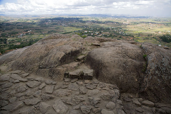 Picture of View from the rocky outcrop at the top of Ambohimanga towards AntananarivoAmbohimanga - Madagascar