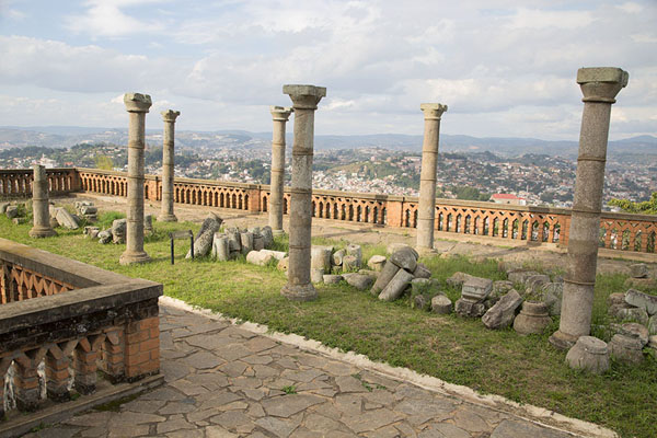 Picture of Rova Palace (Madagascar): Stone columns is all that remains of the Tsarahafatra