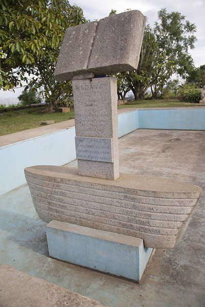 Picture of Bible standing on ship in the gardens of the Rova palace - Madagascar - Africa
