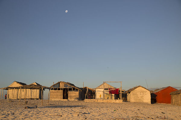 Picture of Salary (Madagascar): Late afternoon view of fisherman houses on the beach of Salary