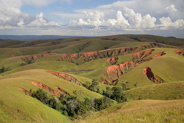 Picture of Erosion eating away at the rolling hills between Tsiroanomandidy and AnkavandraTsiroanomandidy Ankavandra - Madagascar