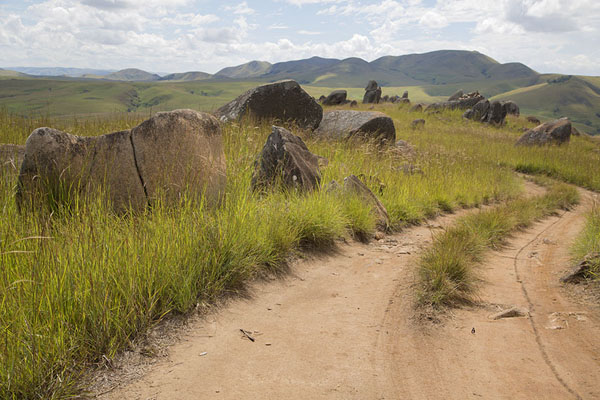 Road meandering through the boulders | Tsiroanomandidy Ankavandra | Madagascar
