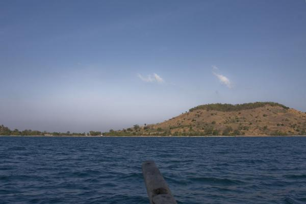 Picture of Chizumulu Island (Malawi): Chizumulu seen from the dhow