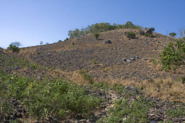 Picture of Chizumulu Island (Malawi): Rocky surface of Chingoli, the main hill of Chizumulu