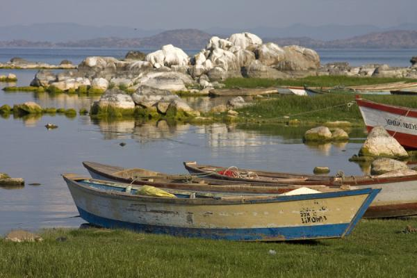 Foto di Small fisher boats moored at Same beach at ChizumuluMalawiani - Malawi