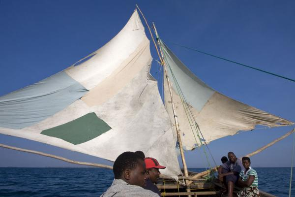 Picture of Chizumulu Island (Malawi): The dhow from Likoma to Chizumulu