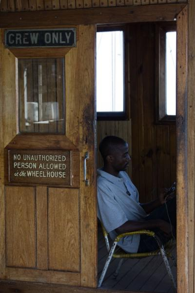 The wheelhouse of the MV Ilala | Traghetto Ilala | Malawi