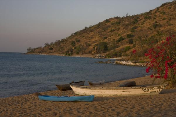 Picture of Dugout canoes on a beach on western Likoma Island