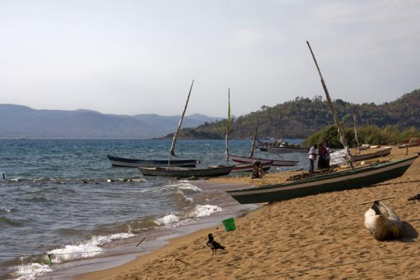 Dhows on the beach near Chipyela | Likoma Island | Malawi