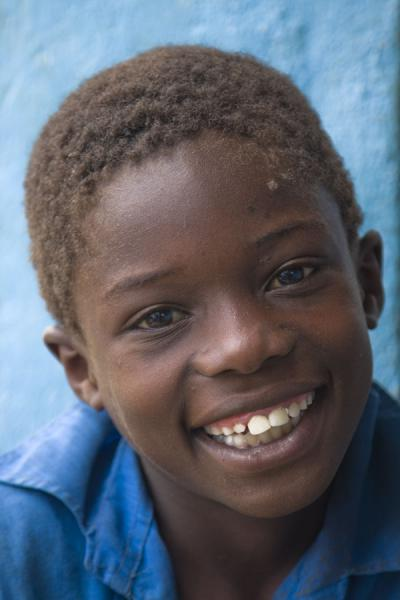Malawian boy in blue in Likhubula in southern Malawi | Malawian people | Malawi